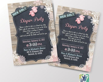 Man Only Diaper Party Card - Baby it's Cold Outside / DIY CARD