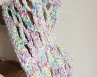Crochet Cowl Pattern  Caught In The Net  beginners easy pattern