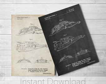Star Wars Snowspeeder Printables, Empire Strikes Back, Star Wars Art, Starwars Vehicle, Star Wars Print, Star Wars Ships, PP1057