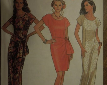 New Look 6228, sizes 8-18, dress, evening wear, UNCUT sewing pattern, craft supplies, misses, womens