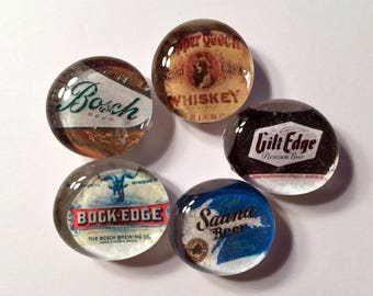 Copper Country Michigan Bosch Beer and Copper Queen Whiskey Magnets