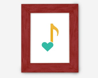 Love Music Note print