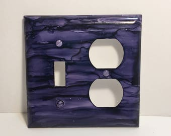 Switchplate, Switchplate Cover, Purple Switchplate, Painted Switchplate, Light Switch Cover, Home Decor
