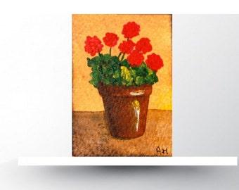 Aceo original. Aceos flowers.Acrylic painting.Miniature art work.Artist  Card.Original painting.Card making