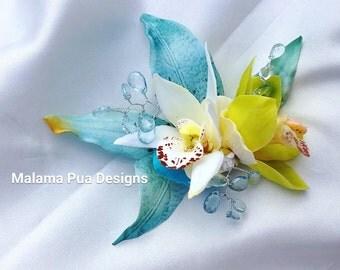 wedding accessoriestropical hair clips custom von malamapuabridal