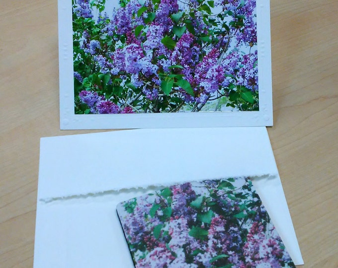 LILAC FLORAL COASTER Gift Set by Pam Ponsart of Pam's Fab Photos