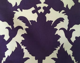 "DURALEE Thomas Paul Silhouette Violet fabric 32"" X 54"""