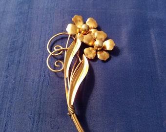 Vintage Brooch 12K Gold Filled (1/20) Carl Art  #84