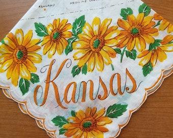 Vintage Franshaw Kansas State Handkerchief  #9