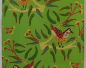 Wattle Birds and Red Cap Gum Australian Tea Towel