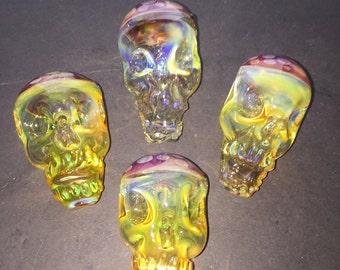 Honey Comb Skull Pipe Free Shipping