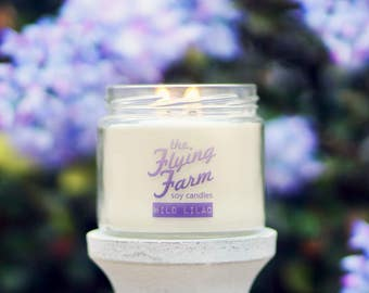 Wild Lilac ~ 12oz Scented Soy Jar Candle