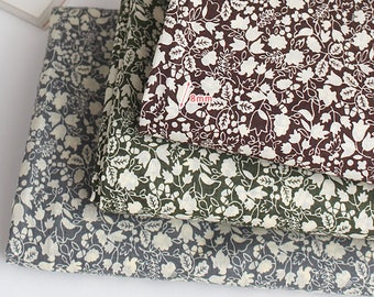 """Cotton Fabric Flower Fabric sewing by the Yard 60"""" Wide Cozy Infant leaf"""