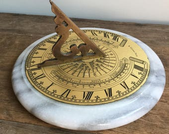 Vintage R Glynne Fecit Sundial by Authentic Models