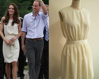 Kate Middleton Joseph Dress/ Vanessa Dress/ Cream Gathered Dress/ Custom made dress/ tailored dress/ Premium Crepe