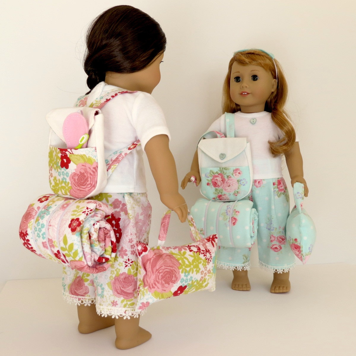 Doll Sleepover Set Handcrafted For 18 Inch Dolls Such As