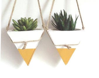 Hanging  Concrete Planter/Pyramid Planters/Hanging Planters/Succulente Planter/Concrete Planters/Hanging Succulente Planters/Gift for Her