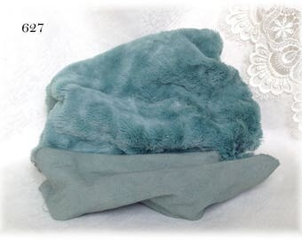 MATT Italian Viscose Plush Fabric Fur Hand Dyed Colour (627) 8-9 mm pile 1/8 m teddy bear making supplies