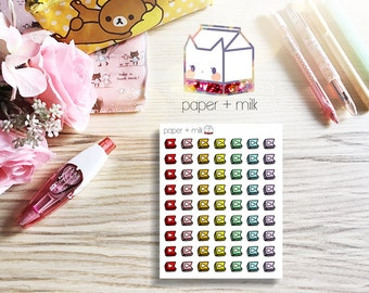 Youtube Doodle Flag Planner Stickers