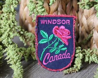 Vintage Windsor Canado Travel Patch