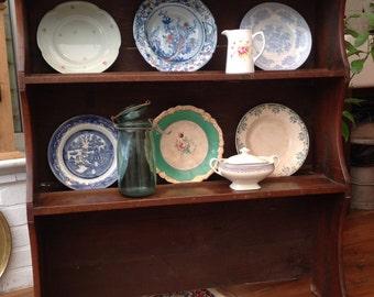 Antique oak shelves dresser top