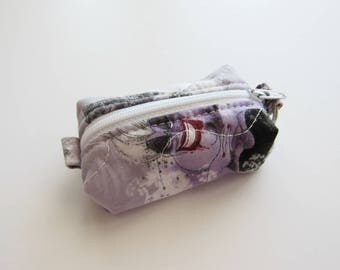 Teeny, Tiny, Miniature Duffle bag. Zipper Pouch, Keychain Pouch, Coin Purse, Keyring, The Little Mermaid, Ursula