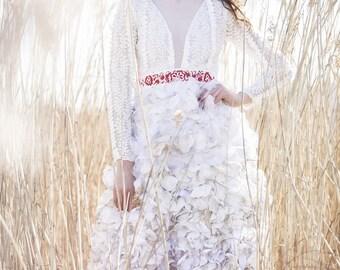 Petals wedding dress