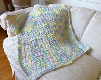 Soft Rainbow Gender Neutral Baby Car Blanket