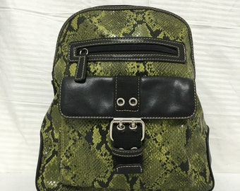 Nine West, Backpack bag, green , faux leather , backpack