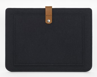 iPad Mini Case - iPad Mini Cover - iPad Mini Leather - Felt and Leather Case-  Felt iPad Cover
