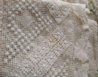 Antique Burano Handmade Tablecloth
