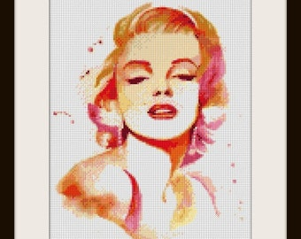 Marilyn Monroe - Artwork by Hannah Alexander - cross stitch pattern - cross stitch Marilyn Monroe - PDF pattern - instant download!