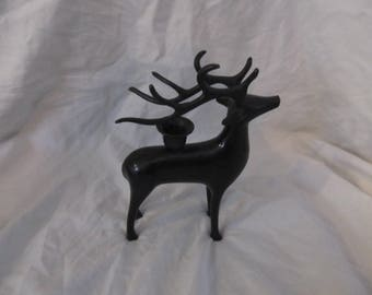Black Deer Candlestick Holder