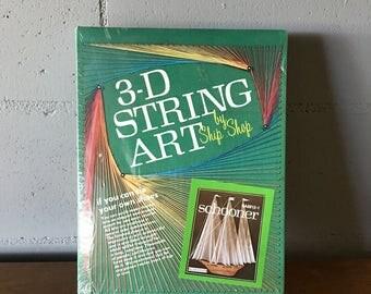 Vintage 3D Stringer Art Schooner, New in Box