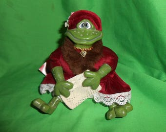 Russ Berrie Vintage Frog LILLY Plush figure withTag