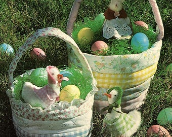 Easy Pattern to Sew Easter Baskets - Easter Basket Pattern - Instant Download PDF