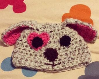 Children's crochet puppy hat