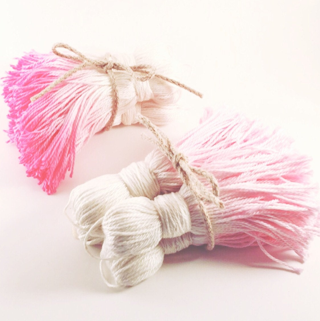 four big cotton ombre pink tassels cushion embellishment curtain
