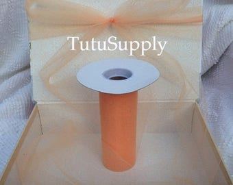 BLOWOUT Peach Tulle Roll,  tulle roll, tulle fabric, tulle spool, tutu supply, wholesale tulle, tulle rolls, tutu fabric, tutu supplies