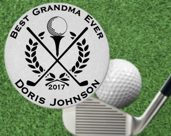 Best Grandma Golf Ball Marker Gift, Stainless Steel, Personalized FREE! for Golfer, Mothers Day
