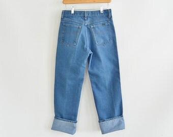 Vintage Roebucks Jeans 30/30 Straight Leg Simple No Fuss Design 1970's Scovill Zipper