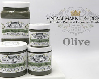 FREE SHIPPING!! Olive- VM&D Furniture Paint- Chalk Based Paint(4 Sizes)
