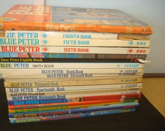 Set of 20 Blue Peter Annuals. No. 3-22  Mostly in good condition