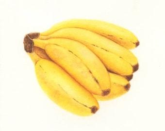 Bananas #5 - ORIGINAL Painting (Still Life, Botanical Wall Art)