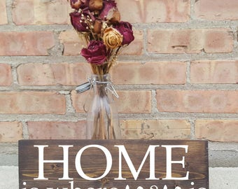 HOME is where mom is.. mother's day, home decor, rustic decor, wood signs, birthday
