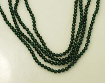 Malachite round beads  3mm and  4mm