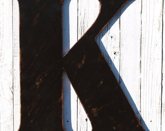 Distressed Jumbo Large Letters 24 inch - Wedding Letters - Extra Large Wooden Letter - Shabby Chic Initials - letters A-Z - Monogram Letters