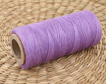 100 m fil ciré violet • fil plat • lilas ciré fil • macramé fil violet • coutures fil • tigre ciré fil de cuir