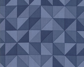 1/2 Yard - Spectrum Ombre - Half Square Triangle - Indigo - V and Co - Vanessa Christenson - Moda Fabrics - Fabric Yardage - 10860-16