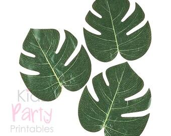 Palm Leaf Luau Decorations, 12 Palm Leaves, Hawaiian Party Decorations Supplies, Luau Party Decor, Birthday Tropical Wedding Beach Summer